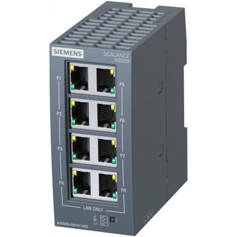 6GK5008-0BA10-1AB2 - Switch niezarządzalny przemysłowy, 8 portów, 10/100Mb/s, RJ45,  SCALANCE XB008