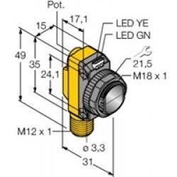 QS18VP6DQ8 – Czujnik fotoelektryczny, czujnik odbiciowy – 66460