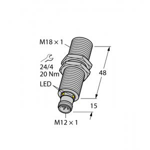 RU40U-M18M-UP8X2-H1151 - Czujnik ultradźwiękowy, czujnik odbiciowy – 1610008