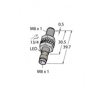 BI2-M08-AP6X-V1131 Czujnik indukcyjny z rozszerzonym zakresem detekcji