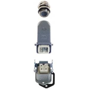 Han 3 A 10200030001 - Złącze przemysłowe proste
