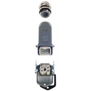 Han 4 A 10200040001 - Złącze przemysłowe proste