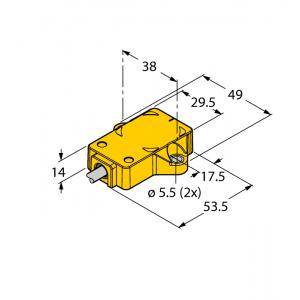 RI360P1-QR14-ELIU5X2 Czujnik indukcyjny