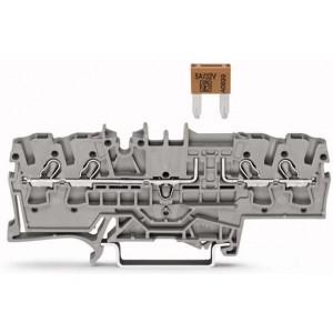 2002-1881 TOPJOBS złączka 4-przewodowa 2,5 mm² bezpiecznikowa szara