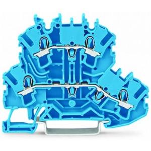2002-2204 - TOPJOBS złączka 2-piętrowa 2,5 mm&sup2, N/N, niebieska