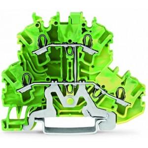 2002-2207 - TOPJOBS złączka 2-piętrowa 2,5 mm&sup2, żółto-zielona
