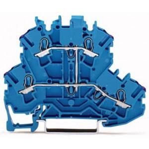 2002-2209 - TOPJOBS złączka 2-piętrowa 2,5 mm&sup2, N, niebieska