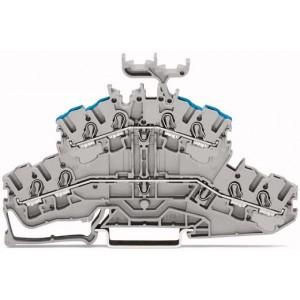 2002-2433 TOPJOBS złączka 2-piętrowa 2,5 mm² szara
