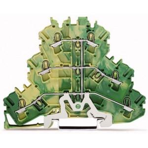 2002-3207 - TOPJOBS złączka 3-piętrowa 2,5 mm&sup2, żółto-zielona
