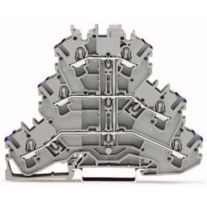 2002-3208 TOPJOBS złączka 3-piętrowa 2,5 mm² L szara