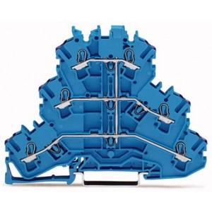 2002-3209 - TOPJOBS złączka 3-piętrowa 2,5 mm&sup2, L, niebieska