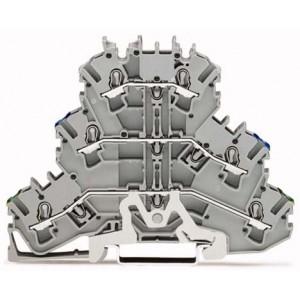 2002-3217 TOPJOBS złączka 3-piętrowa 2,5 mm² PE/N/L szara