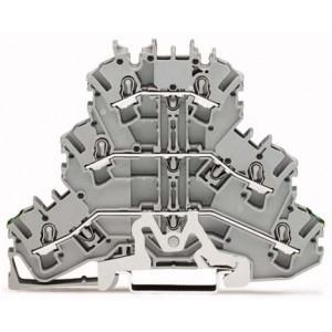 2002-3227 TOPJOBS złączka 3-piętrowa 2,5 mm² PE/L/L szara