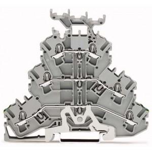 2002-3257 TOPJOBS złączka 3-piętrowa 2,5 mm² PE/L/L szara
