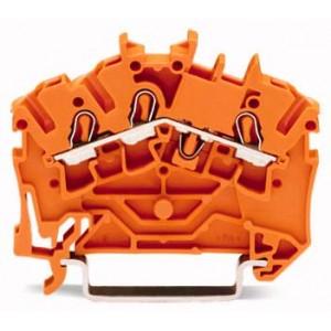 2002-6302 TOPJOBS złączka 3-przewodowa 2,5 mm² pomarańczowa
