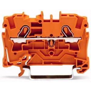2004-1202 - TOPJOBS złączka 2-przewodowa 4 mm&sup2, pomarańczowa