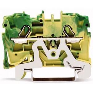 2004-1207 - TOPJOBS złączka 2-przewodowa 4 mm&sup2, żółto-zielona