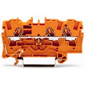 2004-1302 - TOPJOBS złączka 3-przewodowa 4 mm&sup2, pomarańczowa