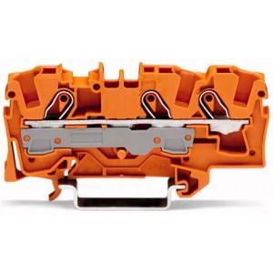 2006-1302 TOPJOBS złączka 3-przewodowa 6 mm² pomarańczowa