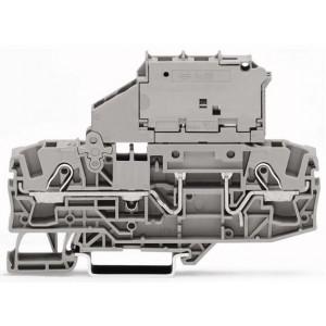 2006-1611 - TOPJOBS złączka 2-przewodowa 6 mm&sup2, bezpiecznikowa, szara
