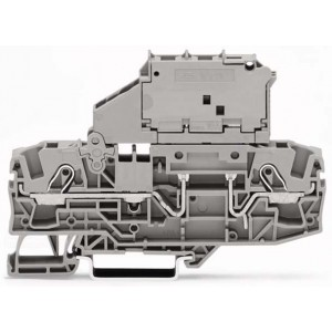 2006-1631 - TOPJOBS złączka 2-przewodowa 6 mm&sup2, bezpiecznikowa, szara