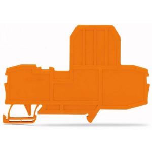 2006-992 ścianka końcowa do złączek bezpiecz. pomarańczowa
