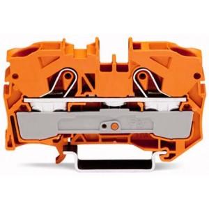 2010-1202 - TOPJOBS złączka 2-przewodowa 10 mm&sup2, pomarańczowa