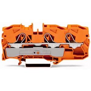 2010-1302 - TOPJOBS złączka 3-przewodowa 10 mm&sup2, pomarańczowa