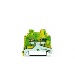 280-107 - złączka PE 2-przewodowa 2,5 mm&sup2, żółto-zielona