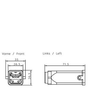6GK1905-0CB00 - PROFIBUS ECOFAST HYBRID PLUG 180 (ECOFAST CU)