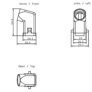 6GK1905-0CD00 - PROFIBUS ECOFAST HYBRID PLUG