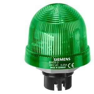 8WD5320-5BC - LAMPA SYGNALIZACYJNA ŚWIATŁO MIGOWE ZIELONY 24 V AC/DC