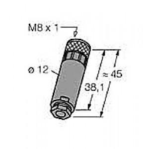 B5133-0 – Złącze rozbieralne M8, żeńskie, proste – 6901030