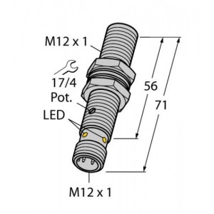 BC3-M12-AP6X-H1141 – Czujnik pojemnościowy – 2601011