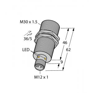 BI15-M30-AP6X-H1141 - Czujnik indukcyjny z rozszerzonym zakresem detekcji – 46185