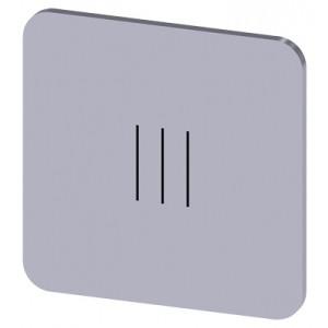 3SU1900-0AF81-0QD0 - ETYKIETA SAMOPRZYLEPNA DO OBUDOWY 22 X 22MM SREBRNA