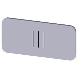 3SU1900-0AC81-0QD0 - ETYKIETA WKŁADANA LUB SAMOPRZYLEPNA 12.5 X 27MM SREBRNA