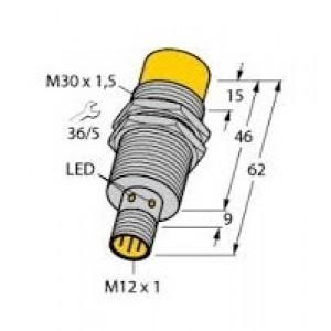NI20-M30-AP6X-H1141 - Czujnik indukcyjny z rozszerzonym zakresem detekcji
