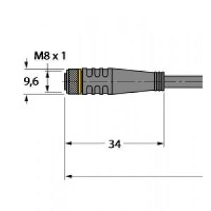 PKG3M-2/TXL – Przewód elementu wykonawczego/czujnika, przewód podłączeniowy – 6625550