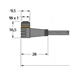 PKW3M-2/TXL – Przewód elementu wykonawczego/- Czujnika, przewód podłączeniowy – 6625556