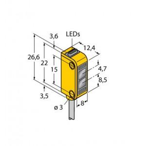 Q12AB6FF15 – Czujnik fotoelektryczny, czujnik odbiciowy – 72104