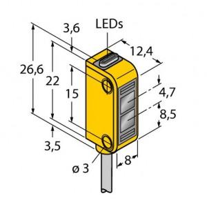 Q12AB6FF30 – Czujnik fotoelektryczny, czujnik odbiciowy – 72110