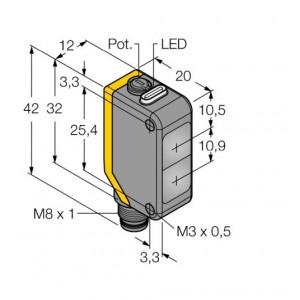 Q20PLVQ7 – Czujnik fotoelektryczny, czujnik refleksyjny – 77766