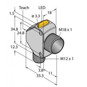 Q3XTBLD-Q8 – Czujnik fotoelektryczny, czujnik laserowy – 91638