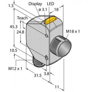 Q4XTBLAF300-Q8 –  Czujnik fotoelektryczny, czujnik laserowy – 94118