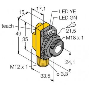 QS18UPAQ8 – Czujnik ultradźwiękowy, czujnik odbiciowy – 73156