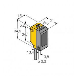 QS18VP6AF100 - Czujnik fotoelektryczny, czujnik odbiciowy – 65502