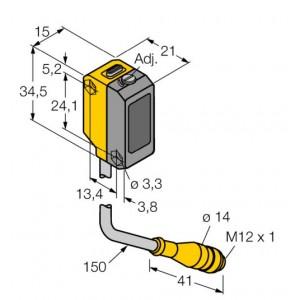 QS18VP6AF300Q5 – Czujnik fotoelektryczny, czujnik odbiciowy – 10659