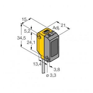 QS18VP6LAF – Czujnik fotoelektryczny, czujnik laserowy – 73188