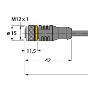 RKC4.4T-2/TXL – Przewód elementu wykonawczego/- Czujnika, przewód podłączeniowy – 6625503